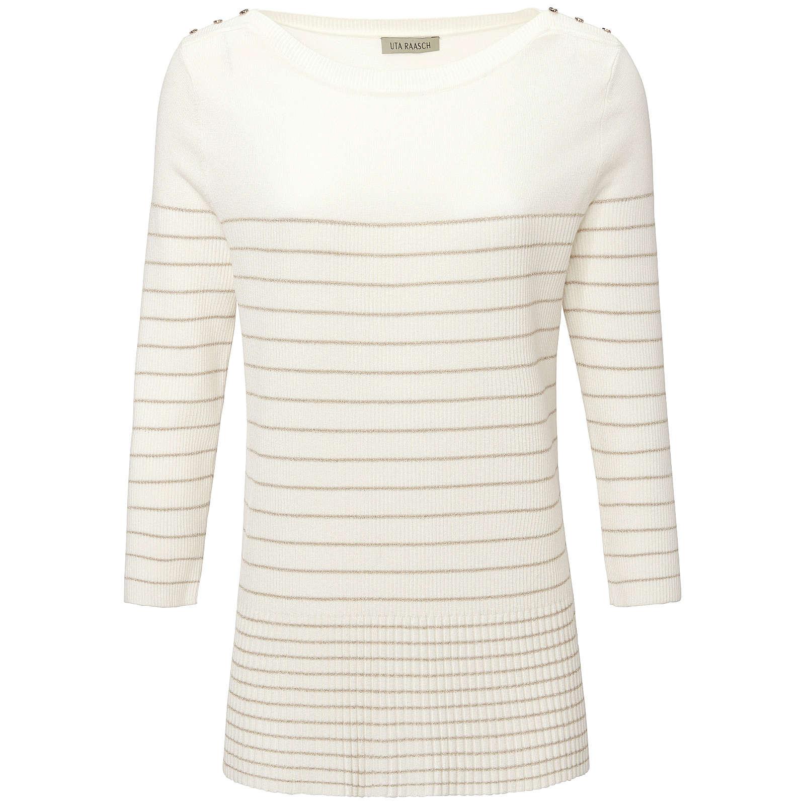 Uta Raasch Pullover mit 3/4-Arm Pullover mit 3/4-Arm Pullover weiß Damen Gr. 38