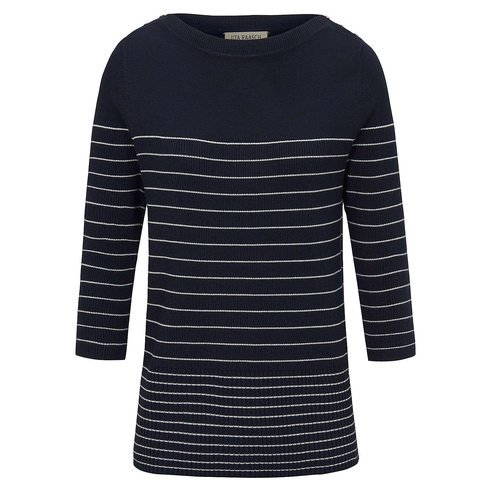 Uta Raasch Pullover mit 3/4-Arm Pullover mit 3/4-Arm Pullover blau Damen Gr. 48