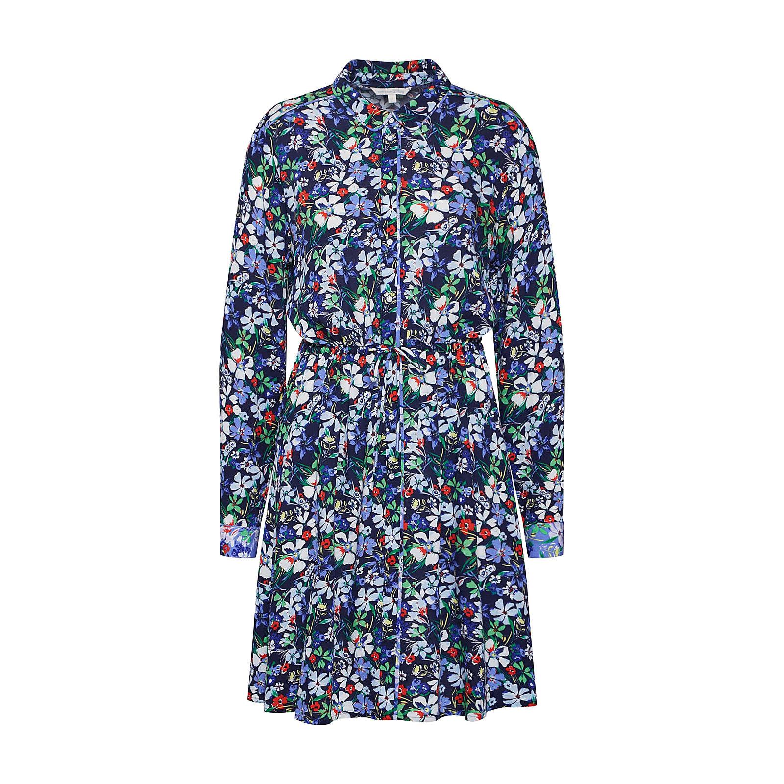 TOM TAILOR DENIM Blusenkleid Blusenkleider mehrfarbig Damen Gr. 38