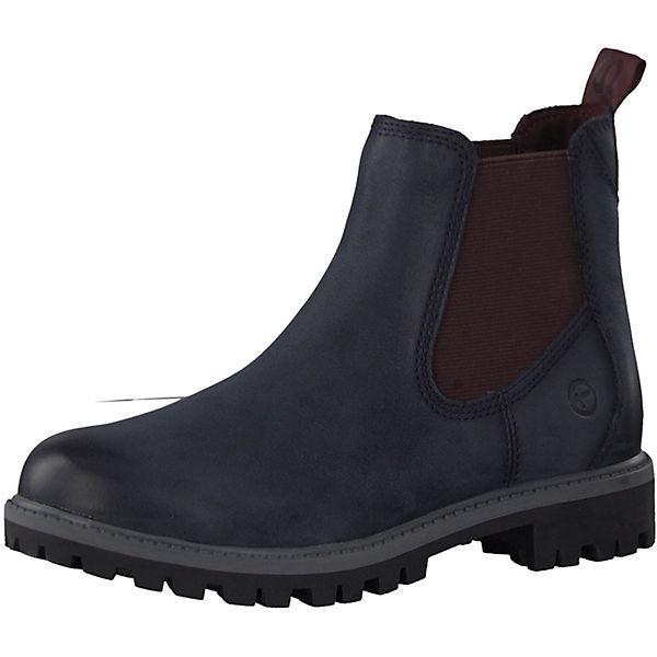 superior quality 462ee aae6d Tamaris, Chelsea Boots, blau-kombi
