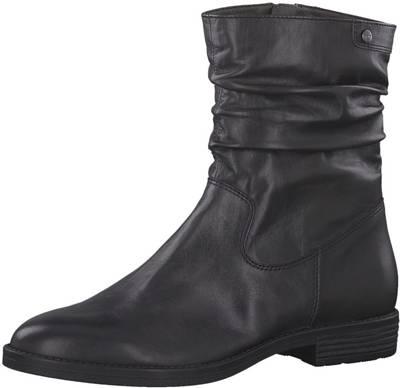 TAMARIS Schuhe Chelsea Stiefelette Anthrazit Grau Reißverschluss echt Leder NEU