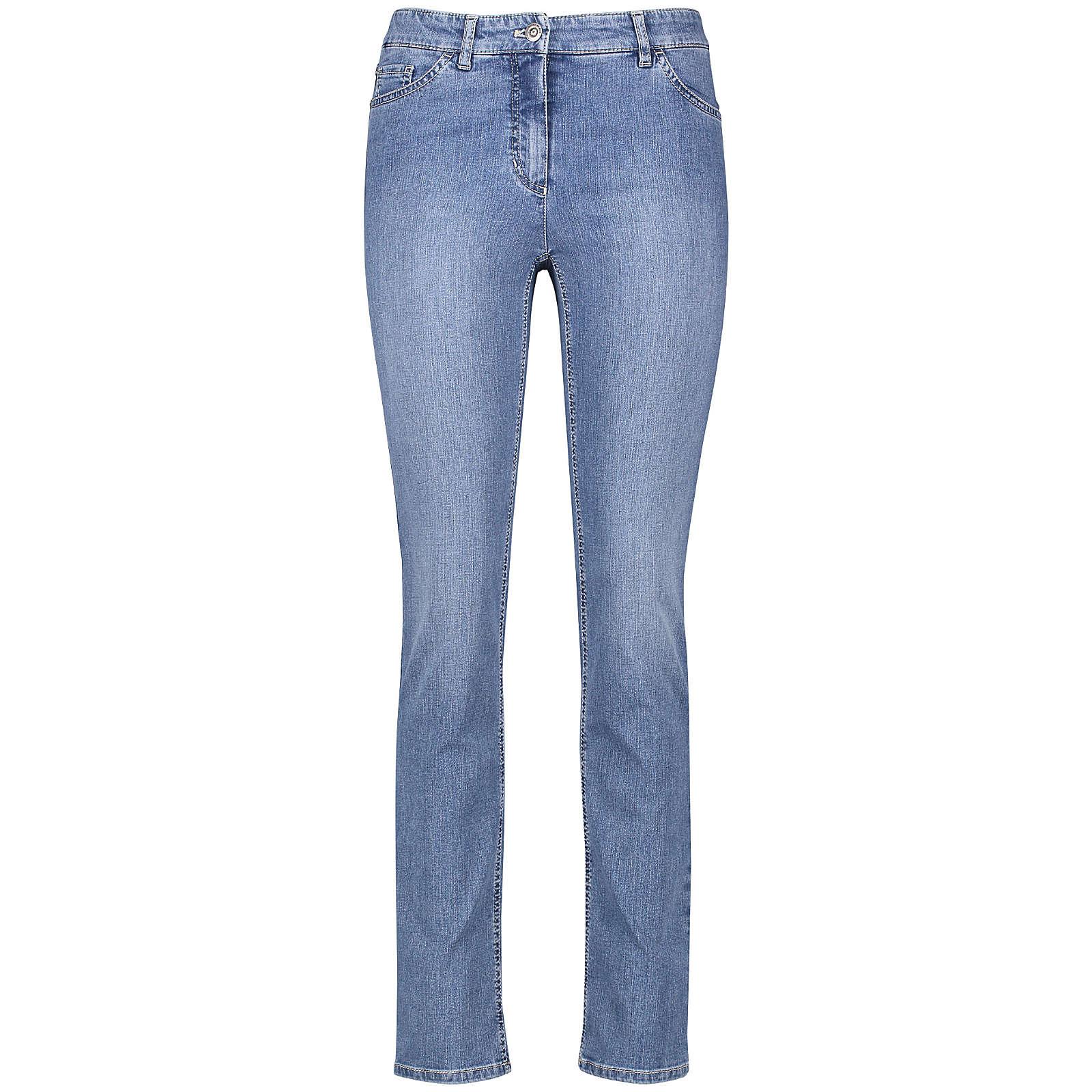 Gerry Weber Hose Jeans lang 5-Pocket Jeans Straight Fit Romy blau Damen Gr. 48