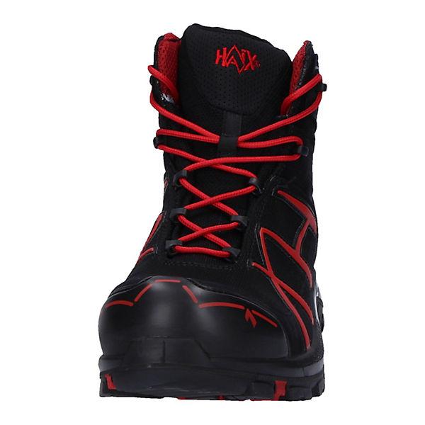 rot Sicherheitsschuhe Eagle red Schwarz Black Sicherheitshalbschuhe 40 Mid Black Haix® Haix Safety yY6bf7g