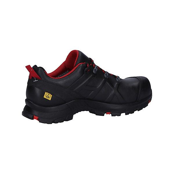 Eagle 54 Haix® Black Safety Mid Black rot Sicherheitsschuhe red Schwarz SzLMGqUVp