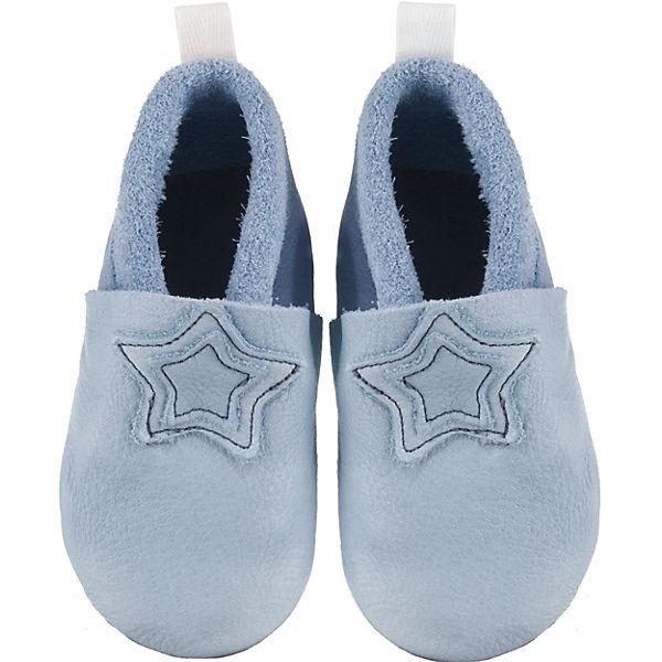 Talsohle Preis großartige Qualität retro Sterntaler, Baby-Krabbelschuh Leder - Hausschuhe -, blau