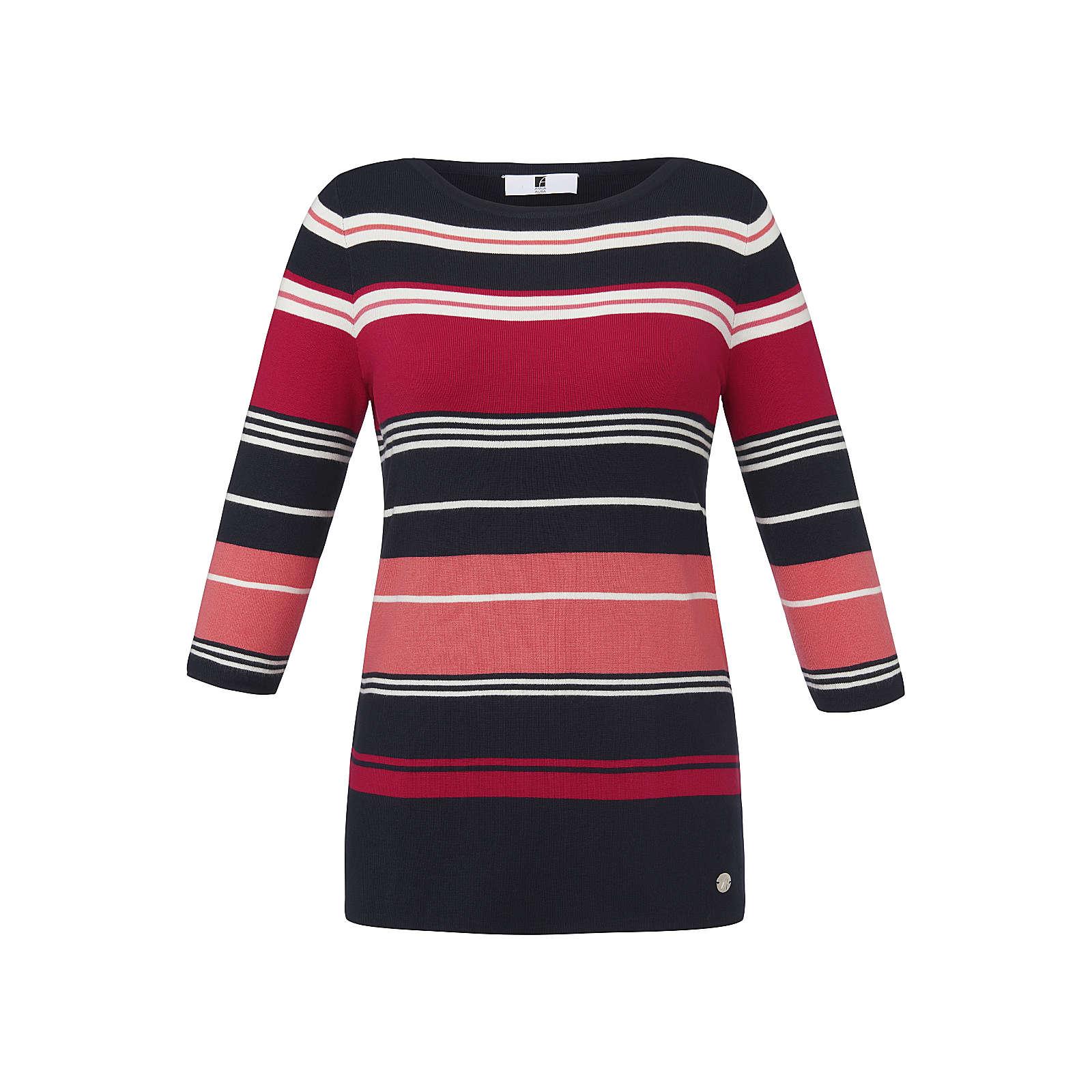 ANNA AURA Streifen-Pullover mit 3/4-Arm Pullover bunt Damen Gr. 56