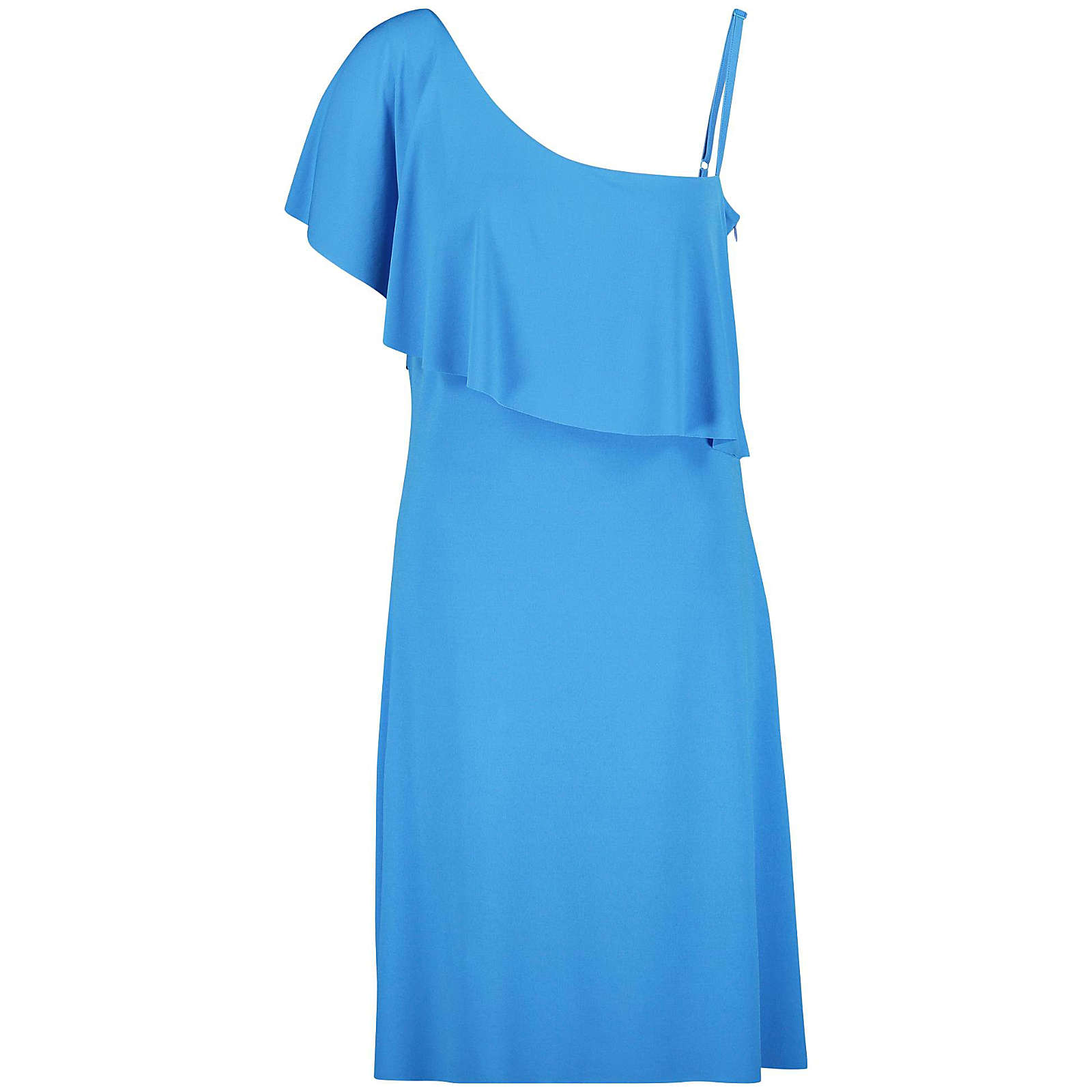 Taifun Kleid Gewirke One-Shoulder-Kleid blau Damen Gr. 46