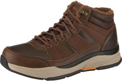 Schuhe SKECHERS SKECHERS Schnürschuhe schwarz Leder mirapodo