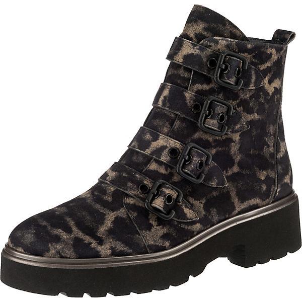 good texture genuine shoes catch Paul Green, Biker Boots, schwarz/braun