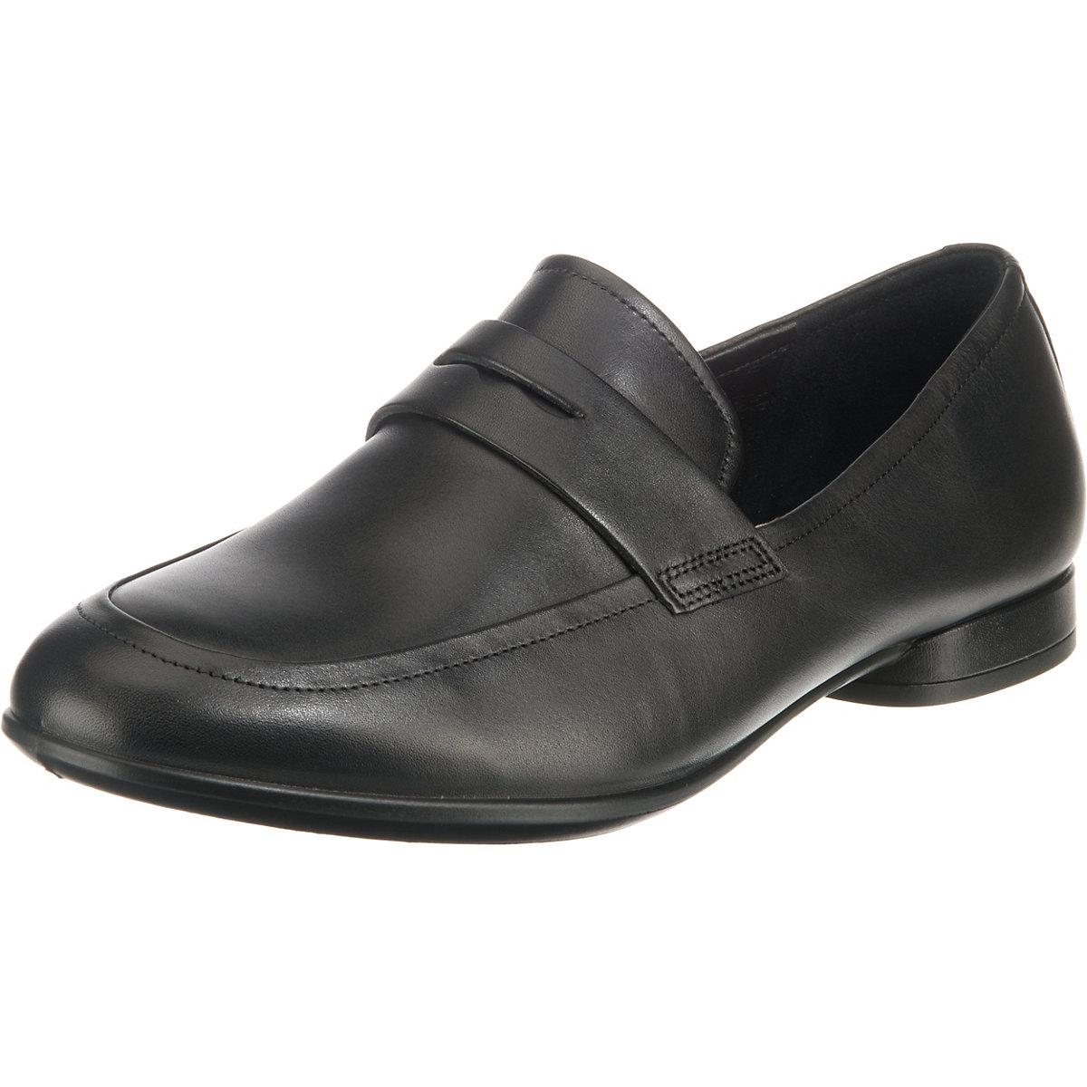 Ecco, Anine schwarz Dress Klassische Slipper, schwarz Modell 1  Gute Qualität beliebte Schuhe