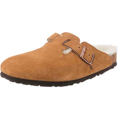 Boston Shearling Velour Schmal Clogs