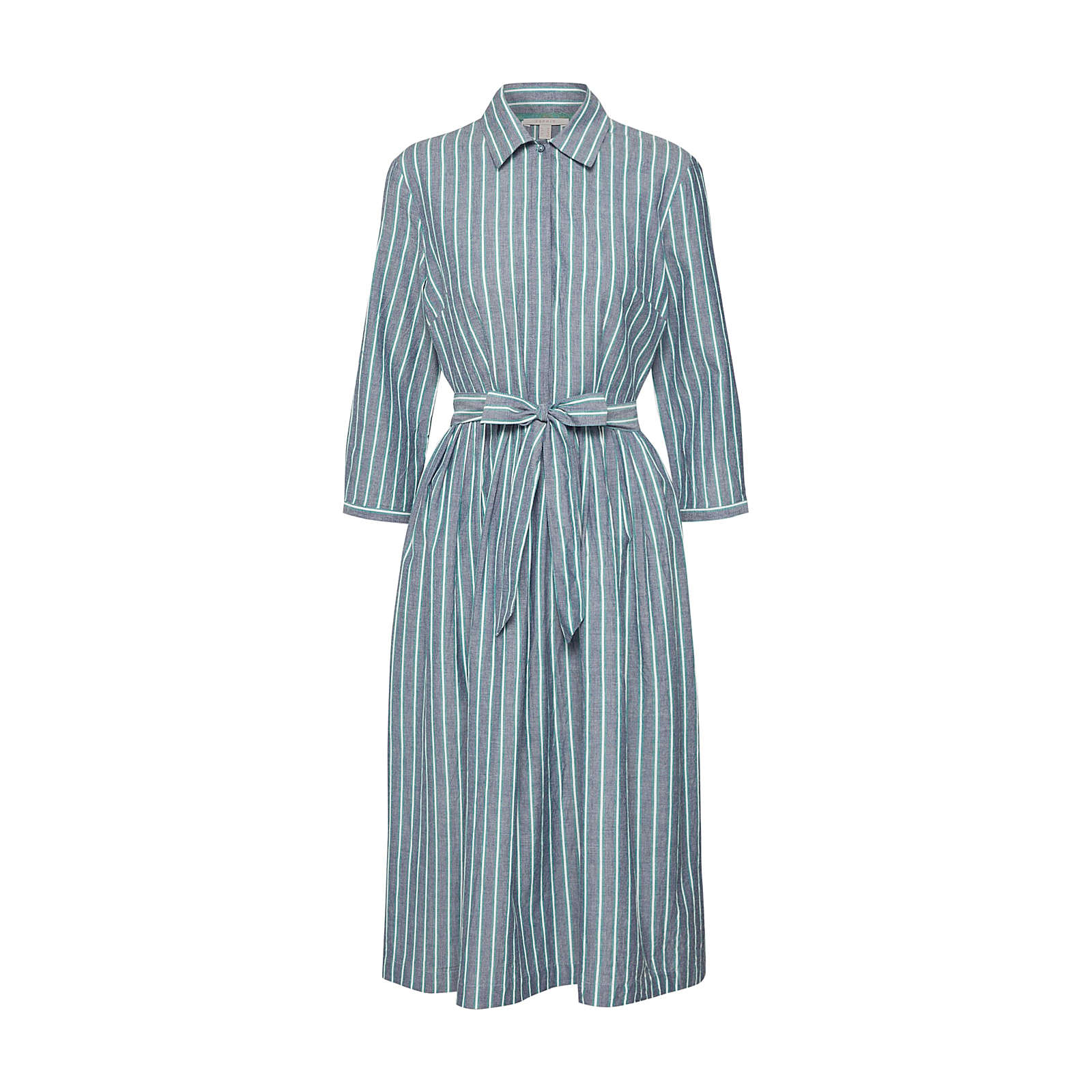 ESPRIT Blusenkleid Blusenkleider grau Damen Gr. 38