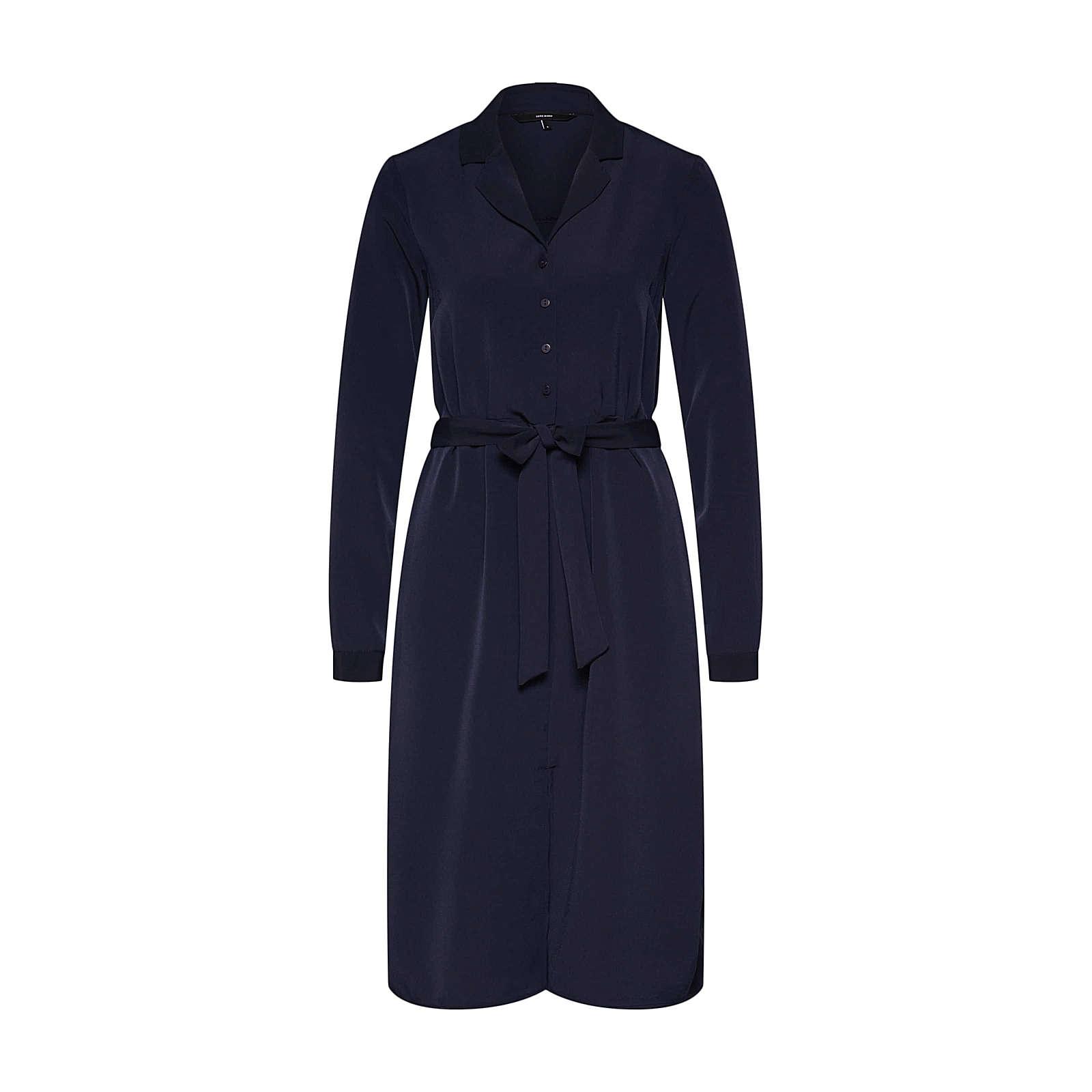 VERO MODA Blusenkleid CAMILA Blusenkleider blau Damen Gr. 34