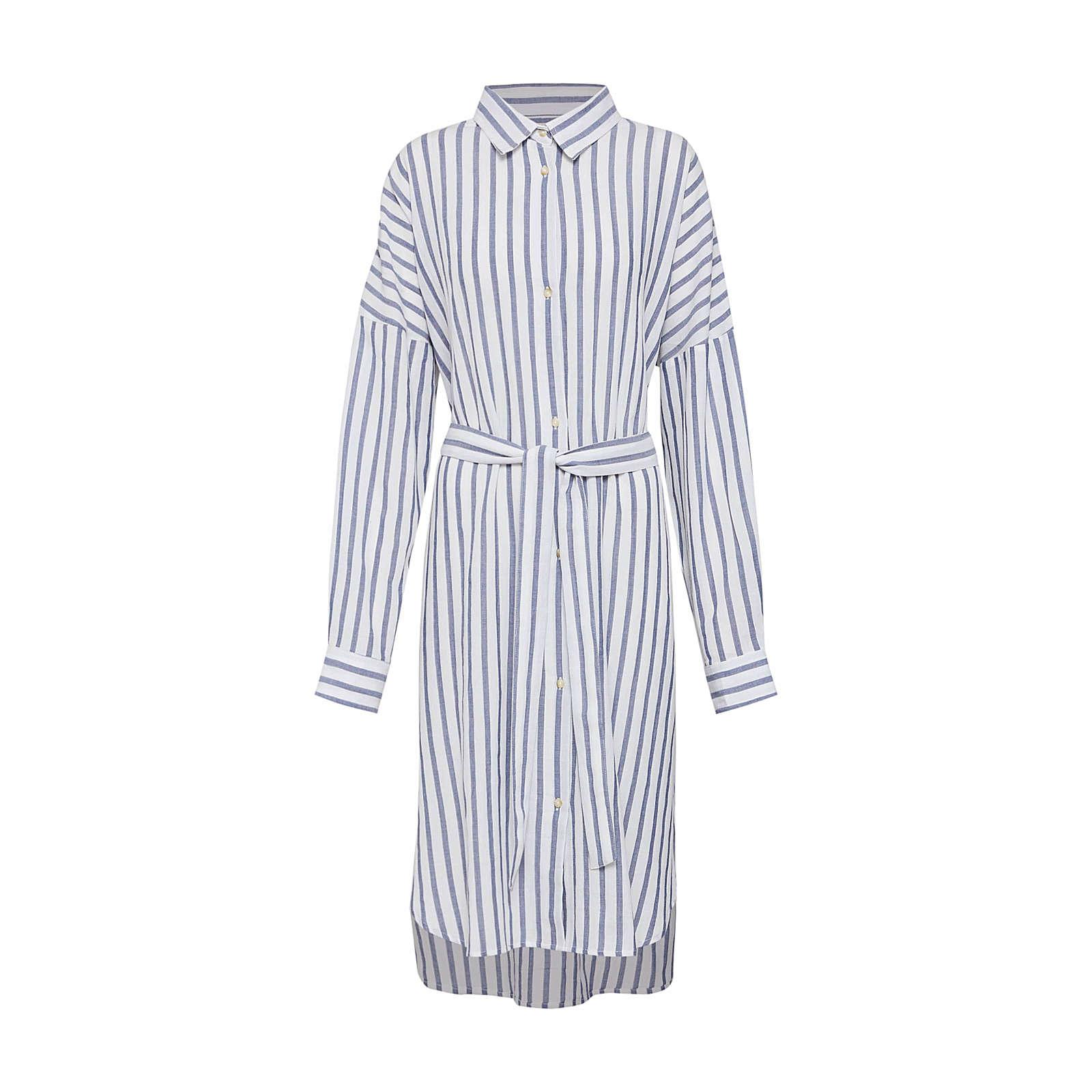 ECOALF Blusenkleid GINA DRESS Blusenkleider weiß Damen Gr. 40