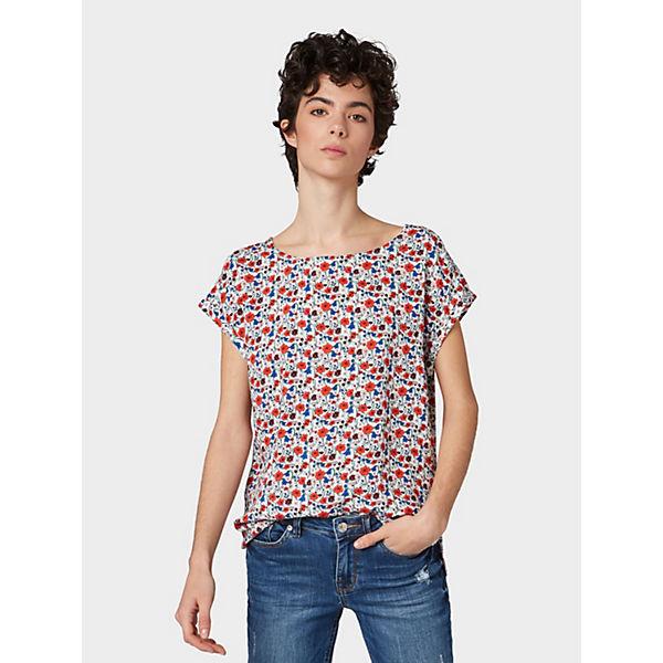 Mehrfarbig Tailor Tom Denim Kurzarmblusen Bluse tQdxCshr