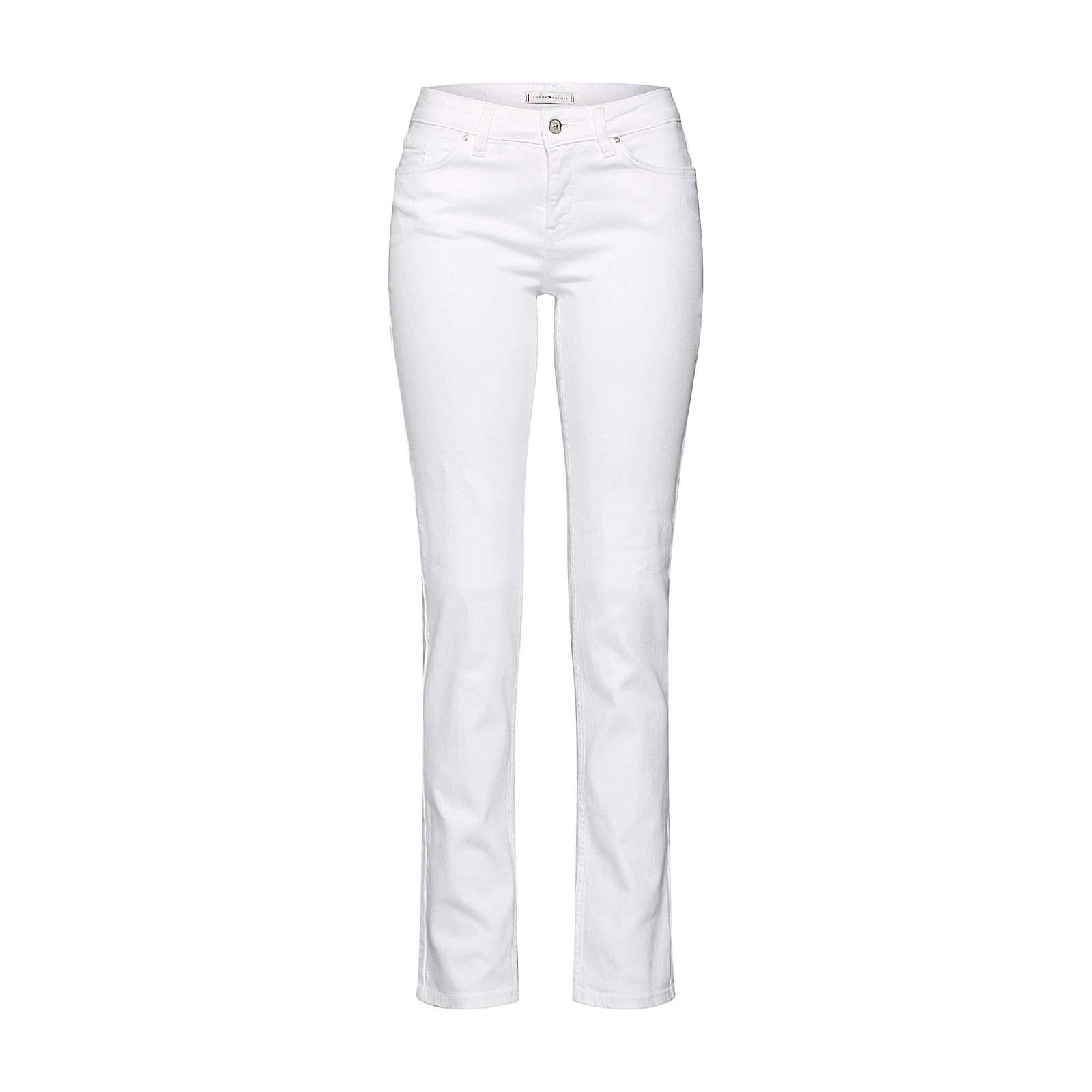 TOMMY HILFIGER Jeans ROME STRAIGHT RW CLR Jeanshosen weiß Damen Gr. W25/L32