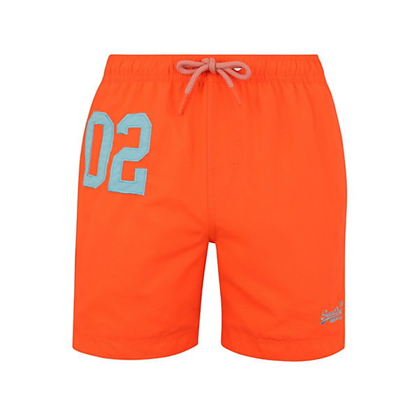 Water Polo Badeshorts Swim Superdry Orange lFTK1Jc