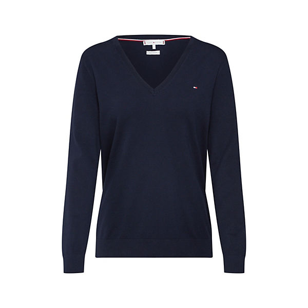 Hilfiger Heritage Sweater nk V Tommy Pullover Blau dthQrCs