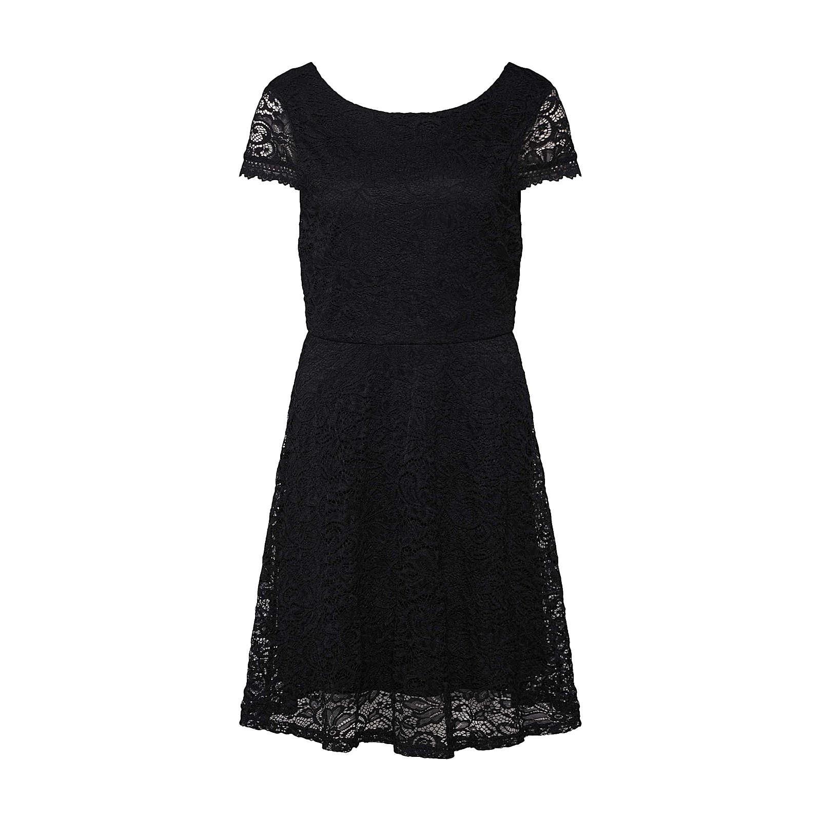 VERO MODA Kleid VMSASSA CAPSL SHORT DRESS BOO JRS Sommerkleider schwarz Damen Gr. 40