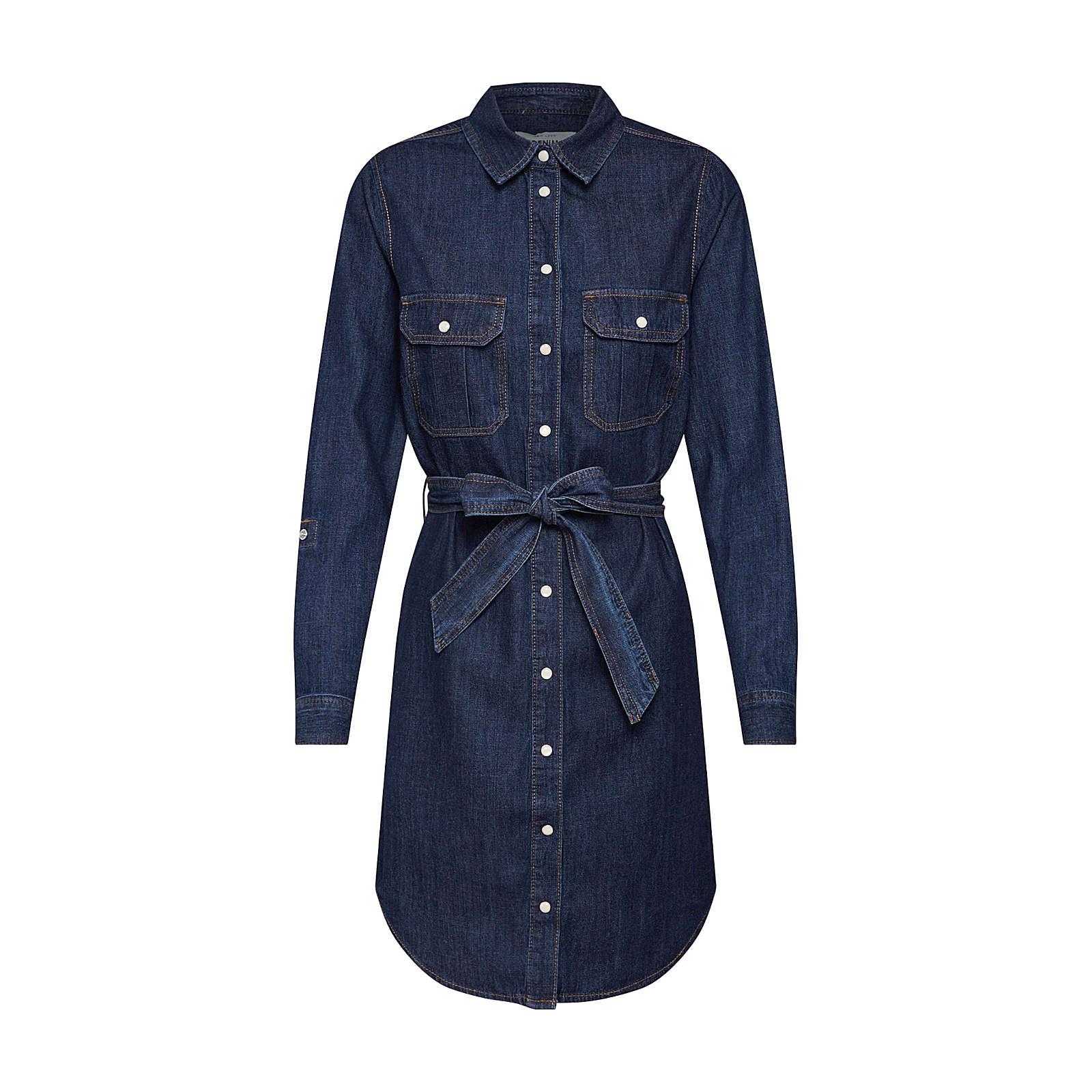 NEW LOOK Blusenkleid HAVANA Blusenkleider blau Damen Gr. 40