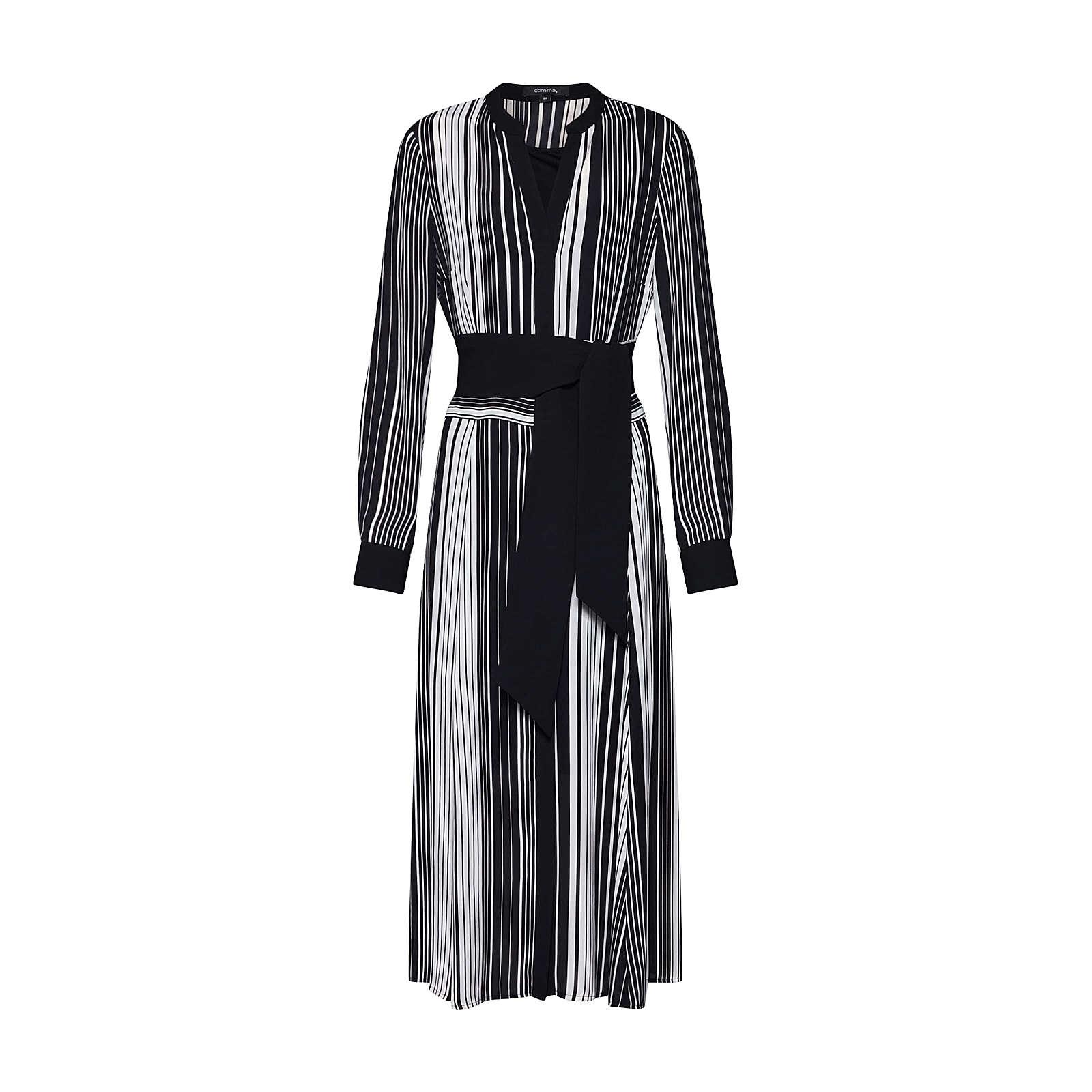 COMMA Blusenkleid Blusenkleider schwarz Damen Gr. 36
