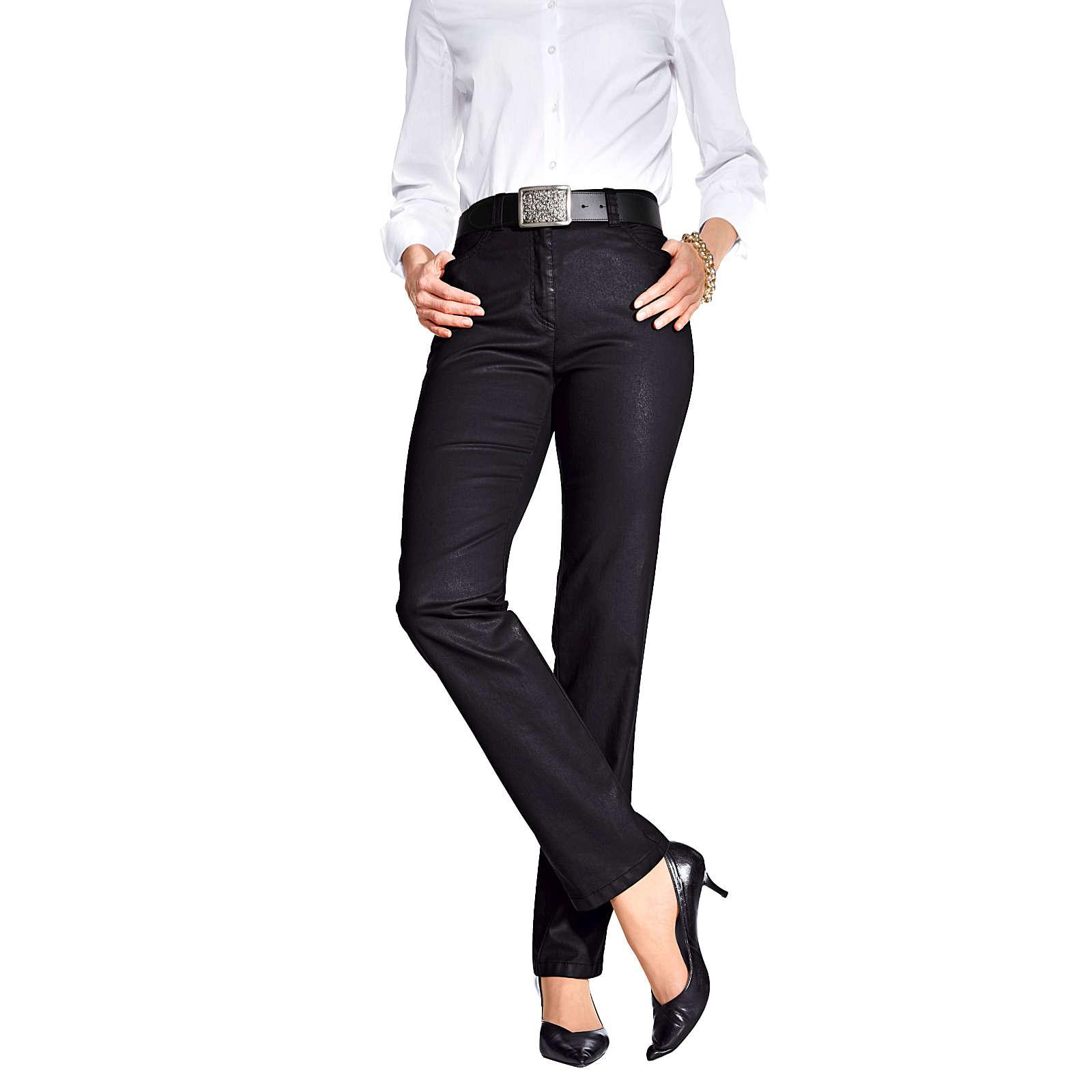 TONI 5-Pocket-Hose schwarz Damen Gr. 48