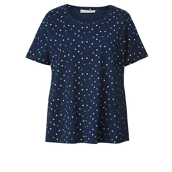 Dunkelblau Shirt Janetamp; Joyce Gepunktet Gepunktet Dunkelblau Janetamp; Joyce Janetamp; Shirt m0nwN8