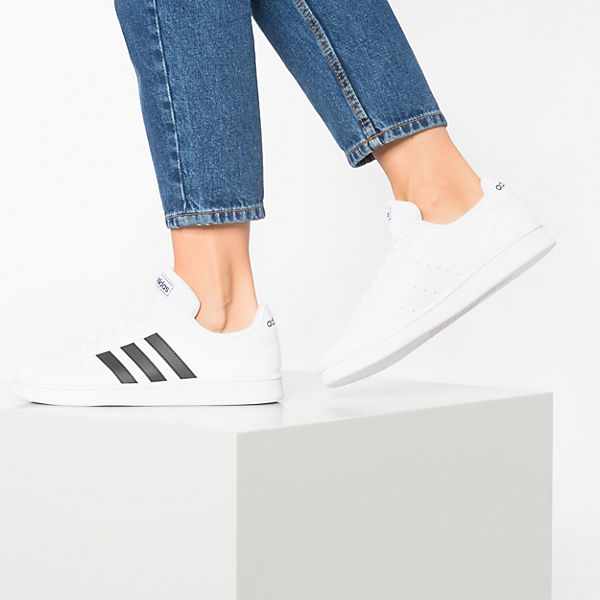 Sneakers Weiß Sport Base Adidas Low Court Modell Grand Inspired 1 lTFJK1c