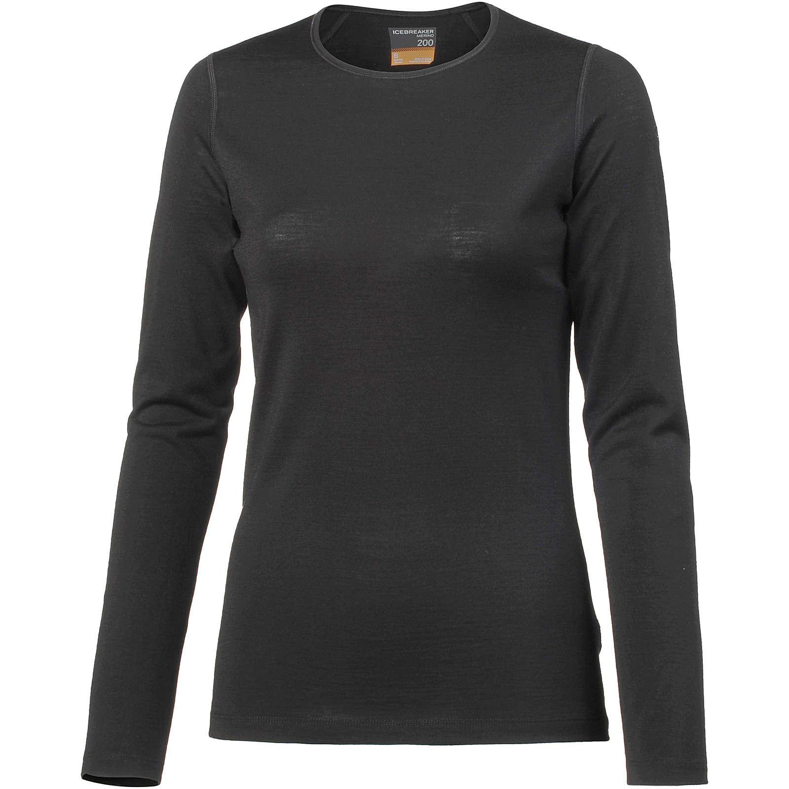 Icebreaker Funktionsshirt 200 Oasis Merino Funktionsshirts schwarz Damen Gr. 34