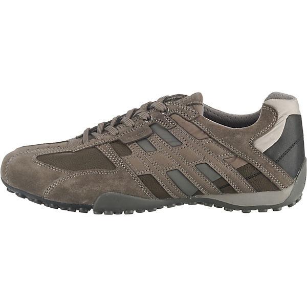 Low Uomo Geox Snake Sneakers Grau LqA4Rj35