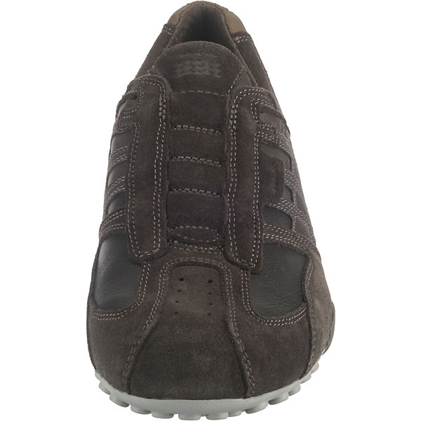 Low Sneakers Uomo Geox Dunkelbraun Snake 7ybgf6