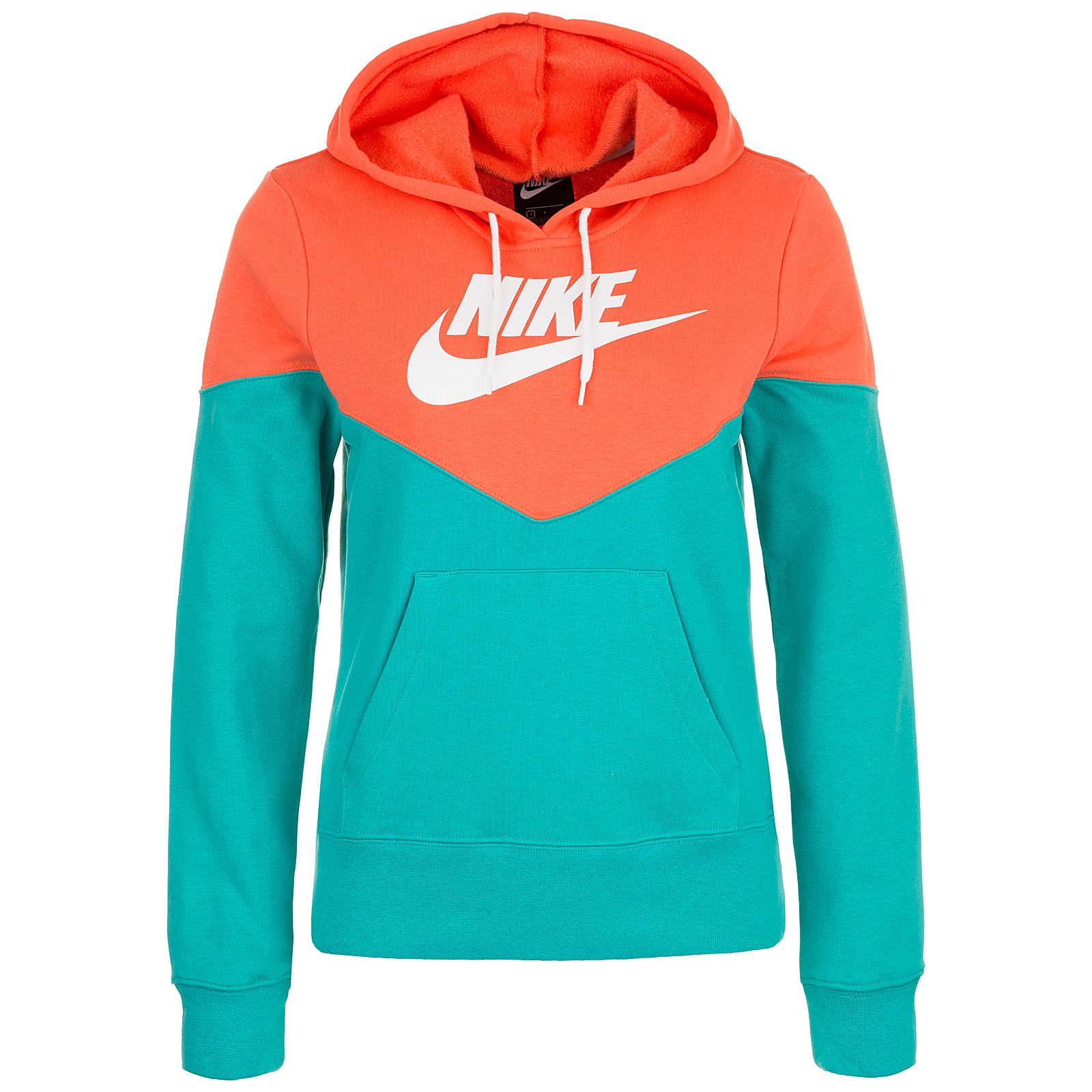 Nike Sportswear Heritage Fleece Kapuzenpullover Damen orange Damen Gr. 36