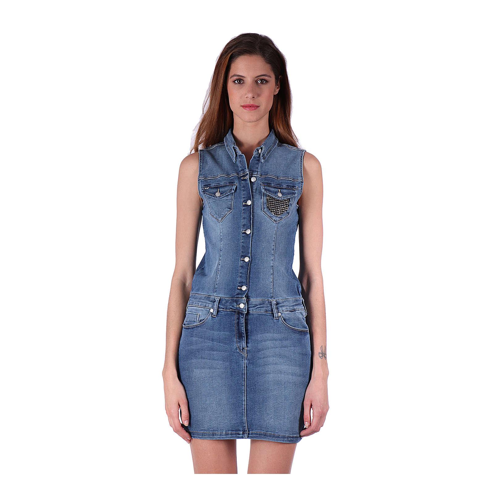 Kaporal Jeans-Kleid Style Icej mit Nietenbesatz Jeanskleider blau Damen Gr. 38