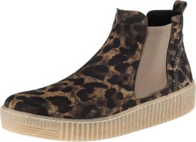 Modische Damen Stiefeletten Chelsea Boots Prints Bequem