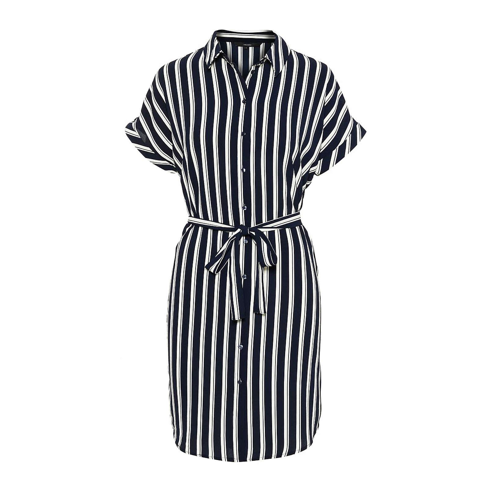 VERO MODA Blusenkleid Sasha Blusenkleider weiß Damen Gr. 36