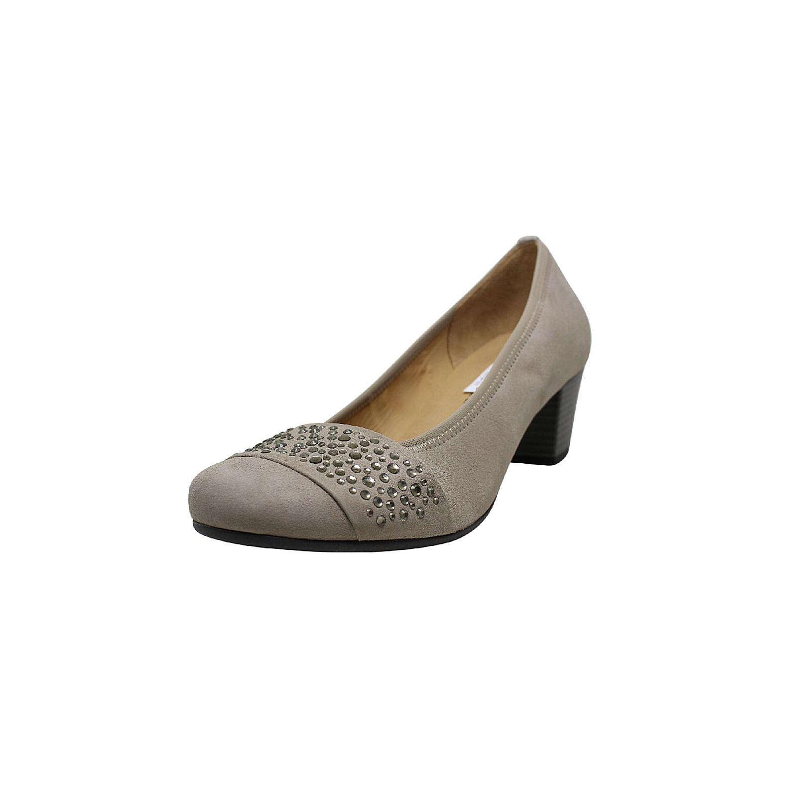 Artikel klicken und genauer betrachten! - Flotter Pumps von Gabor aus einem feinen hochwertigem Veloursleder. Innen ist der Schuh mit einem cromfrei gegerbtem Leder ausgestattet. Der Schuh hat eine normale Weite. Der Trotteurabsatz hat eine Höhe von cirka 5 cm. Die Laufsohle ist aus Krepp. Die Schuhgröße fällt regulär aus.   im Online Shop kaufen