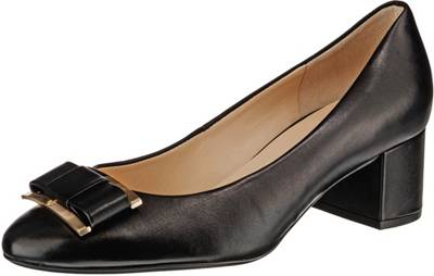 GADEA Damen Pumps Gr 38 39 40 41 Schwarz Business Leder