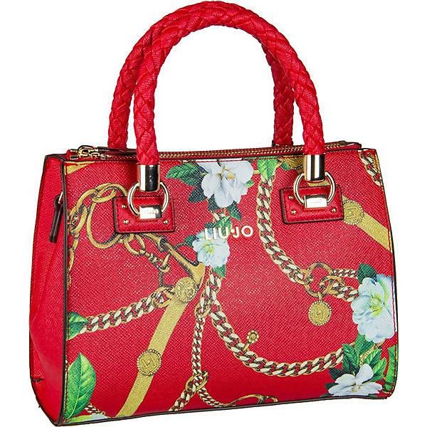 Liu Jo Rot Handtaschen Handtasche 19101 Satchel Zip Manhattan Print S v8mwnN0O