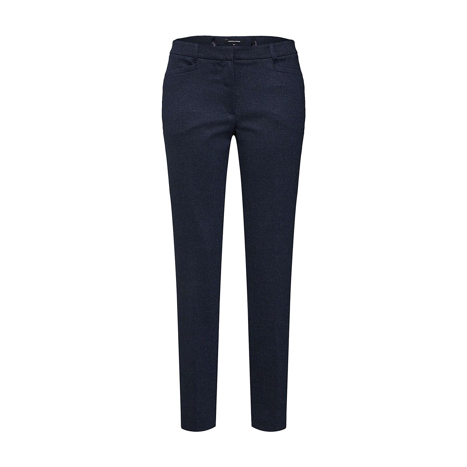 MORE & MORE Bügelfaltenhose 3/4-Hosen blau Damen Gr. 52