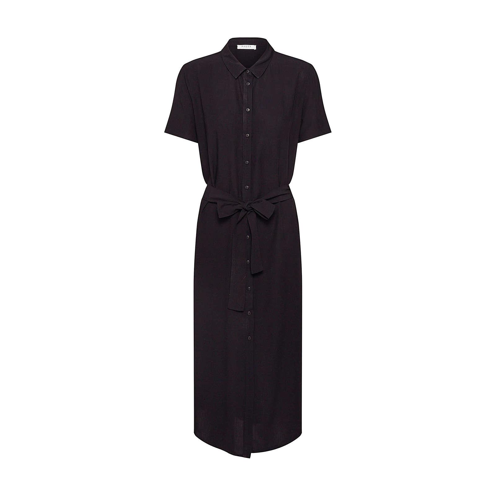 PIECES Blusenkleid CECILIE Blusenkleider schwarz Damen Gr. 36