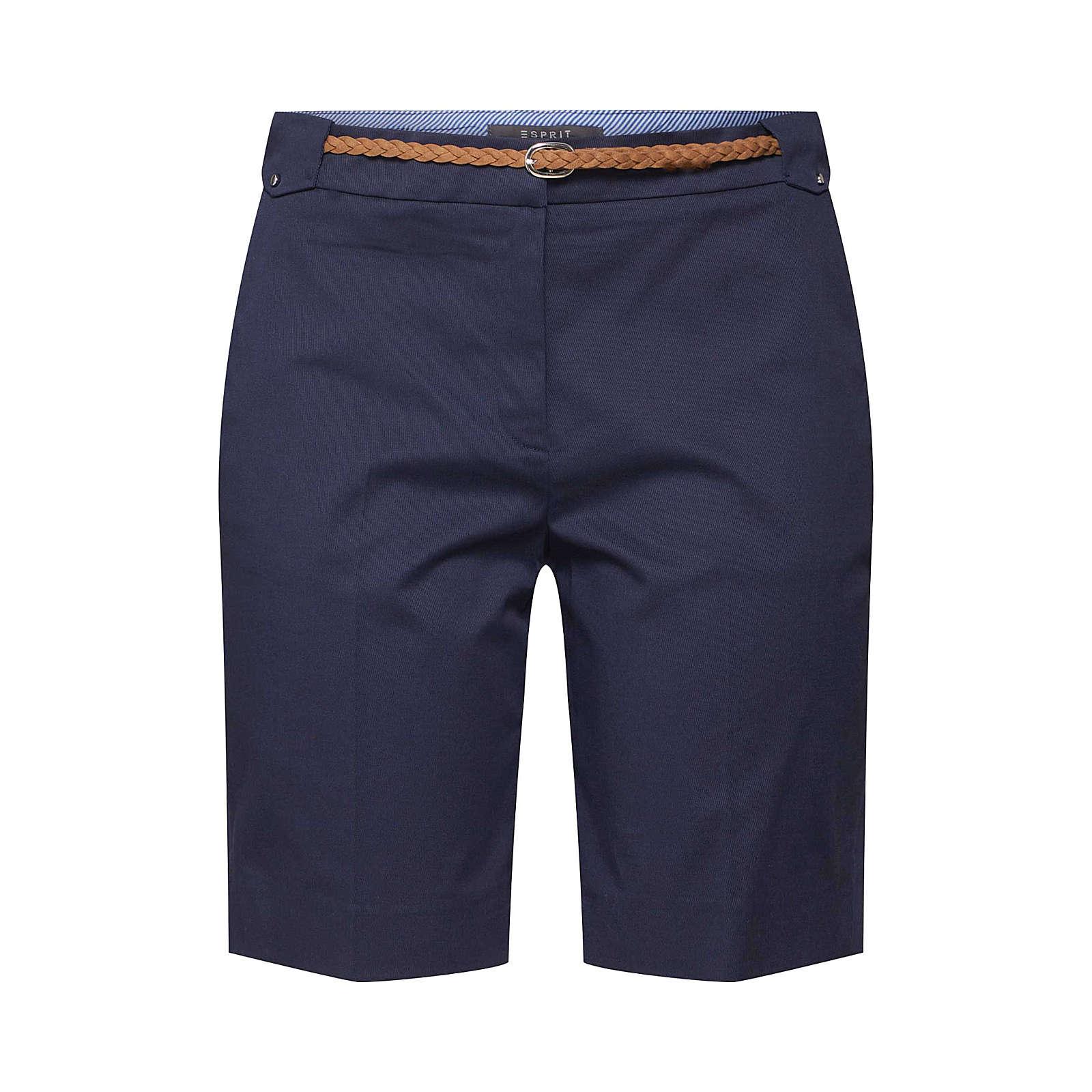 Esprit Collection Bügelfaltenhose Stoffhosen blau Damen Gr. 40