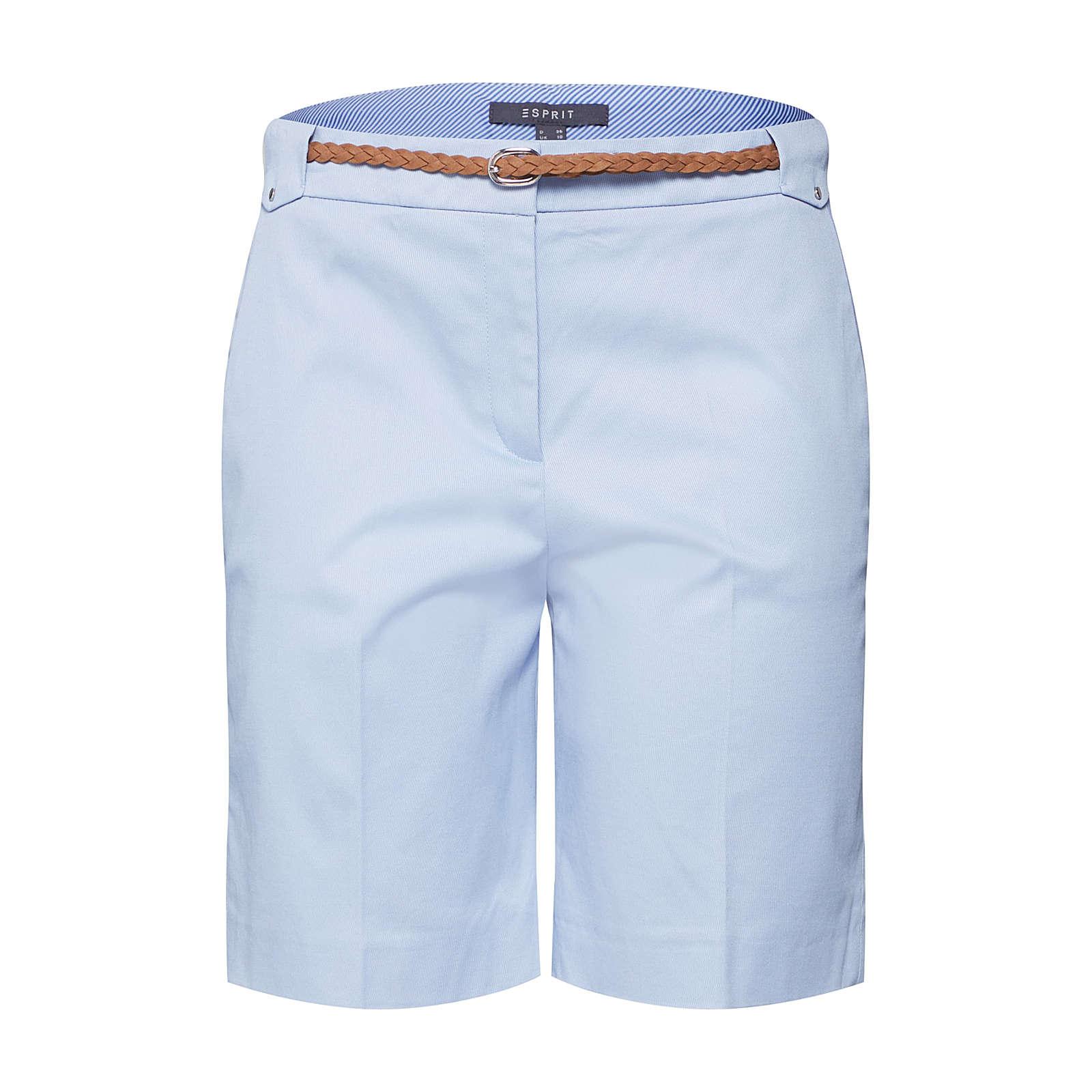 Esprit Collection Bügelfaltenhose Stoffhosen hellblau Damen Gr. 40