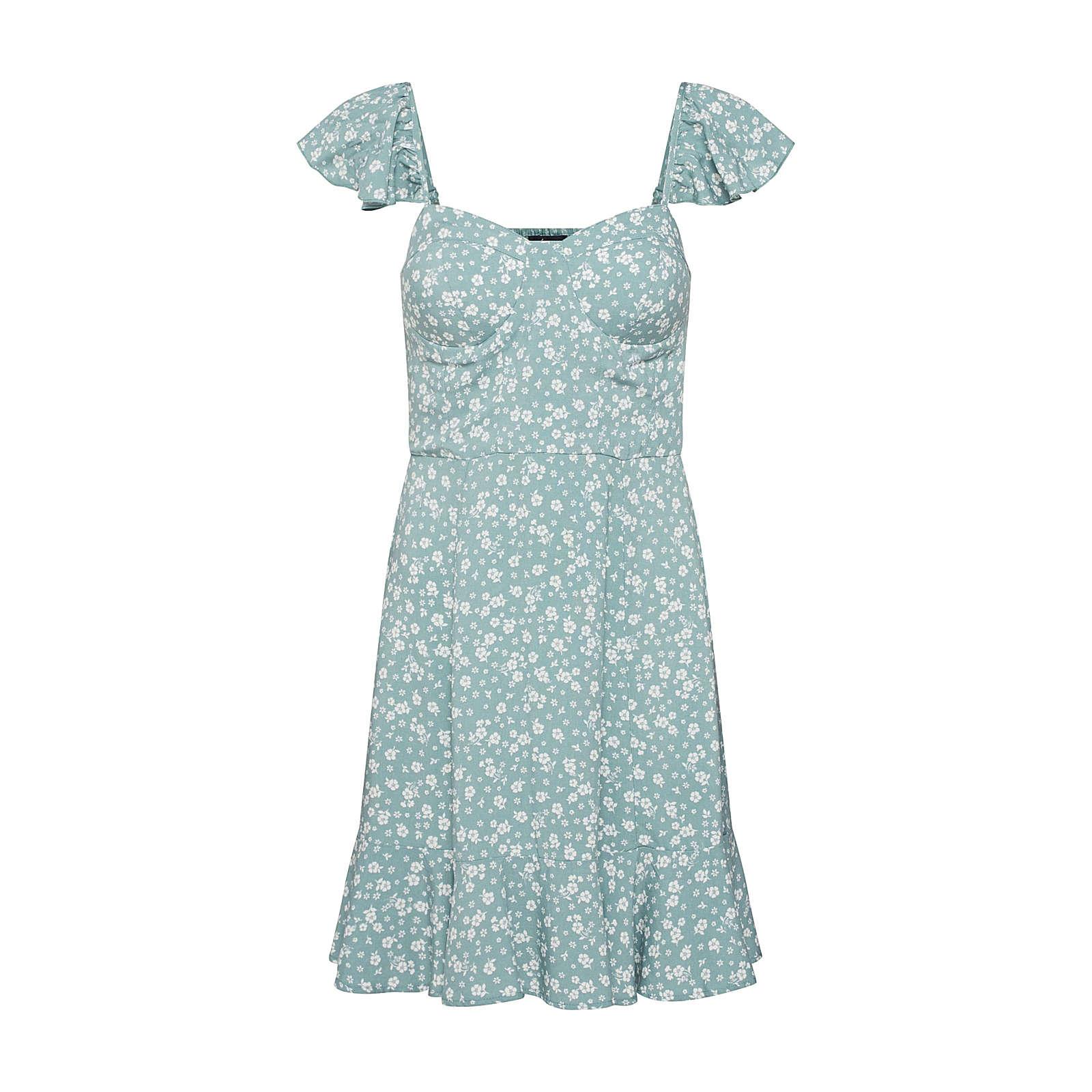 NEW LOOK Sommerkleid Sommerkleider weiß Damen Gr. 40