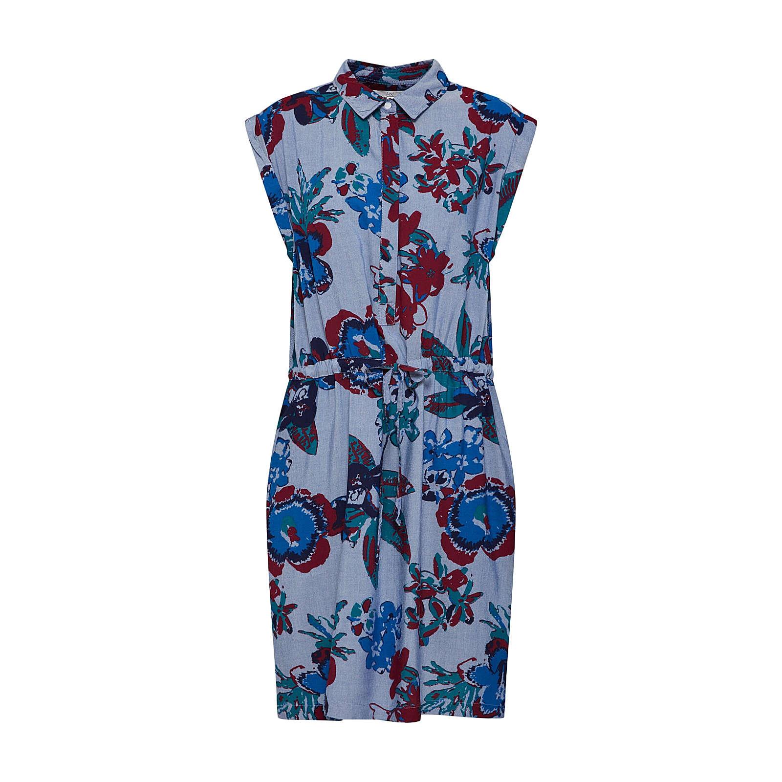 Lee Blusenkleid Blusenkleider mehrfarbig Damen Gr. 38