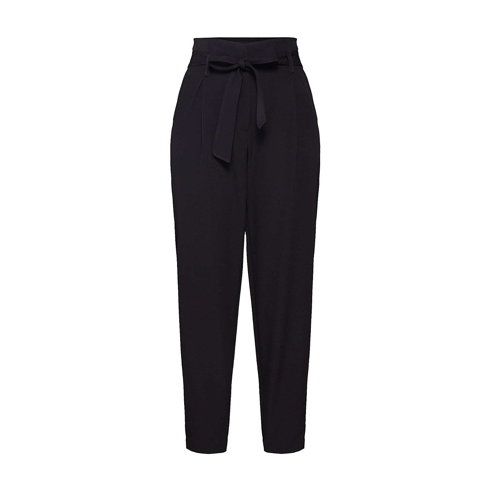 NEW LOOK Bundfaltenhose Stoffhosen schwarz Damen Gr. 40