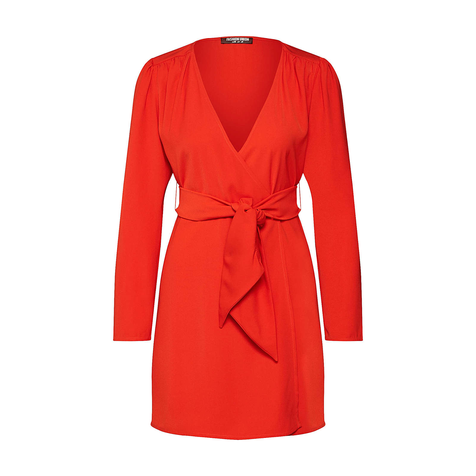 Fashion Union Blusenkleid Alina Blusenkleider orange Damen Gr. 40