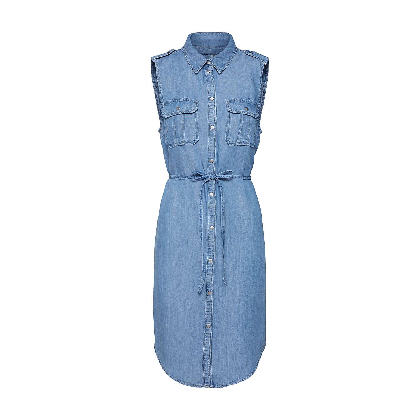ONLY Blusenkleid Claire Blusenkleider blue denim Damen Gr. 40