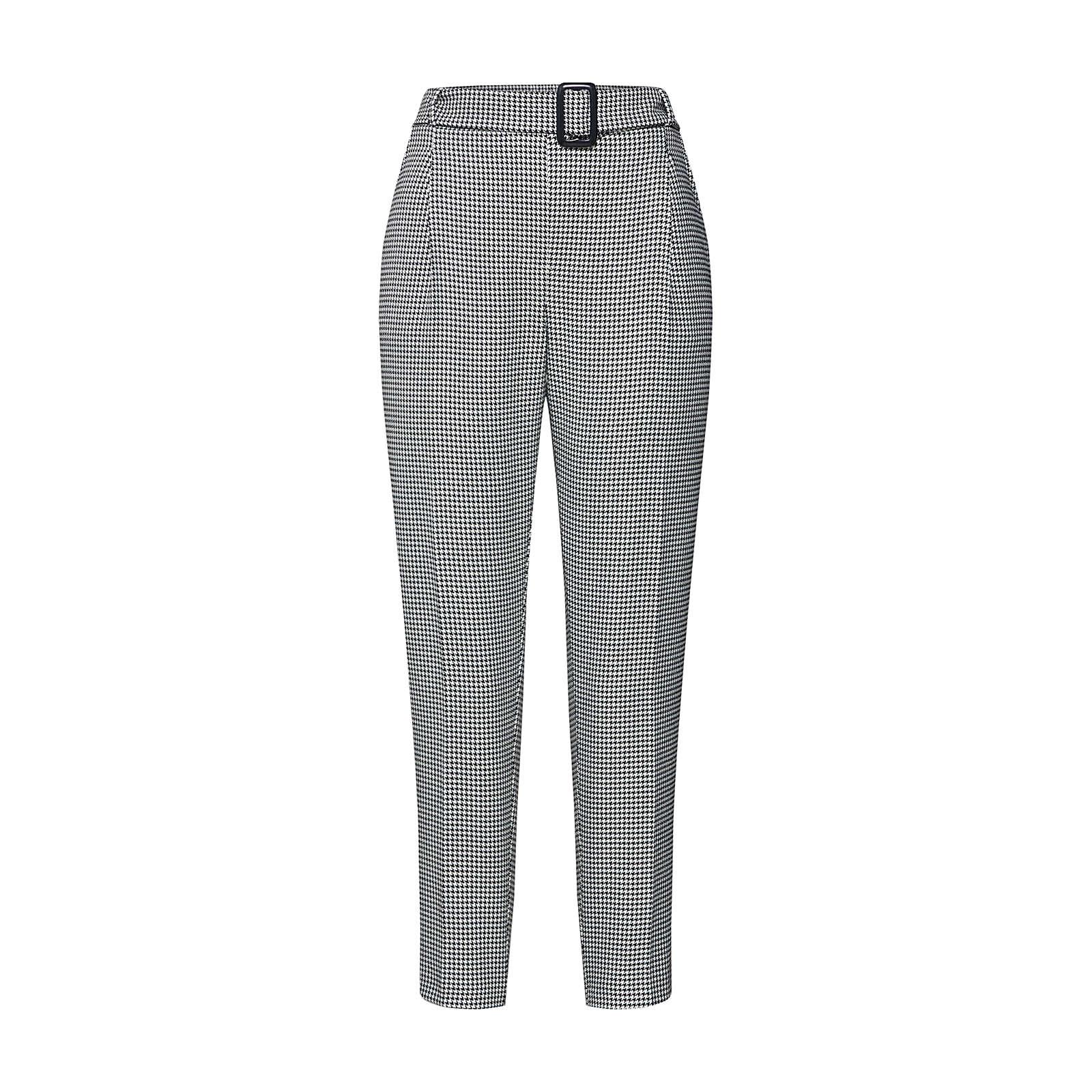 NEW LOOK Bundfaltenhose Stoffhosen weiß Damen Gr. 38