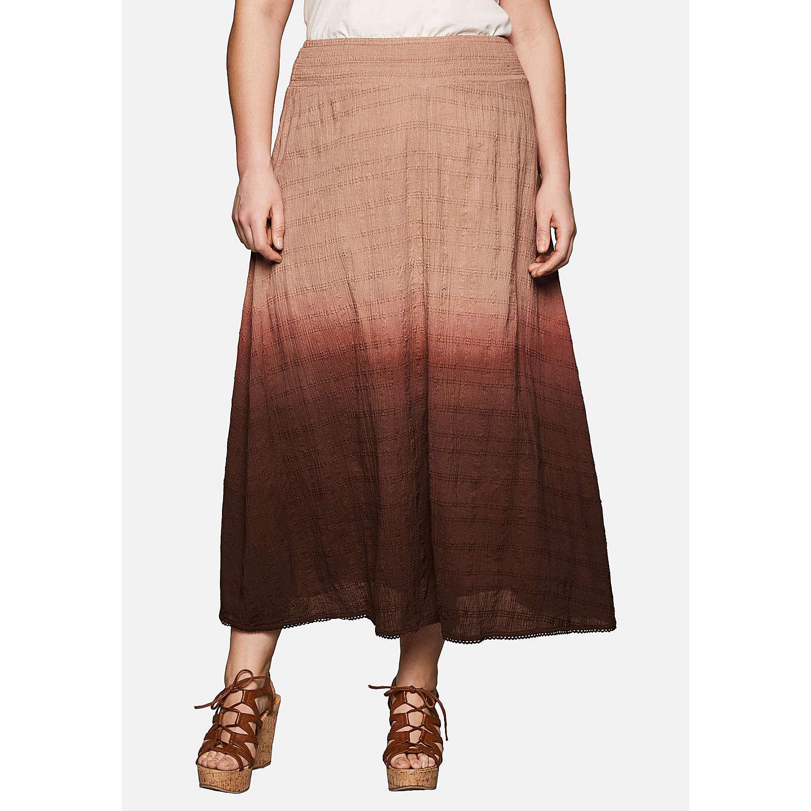 sheego Batikrock im angesagten Boho-Style Röcke braun Damen Gr. 48