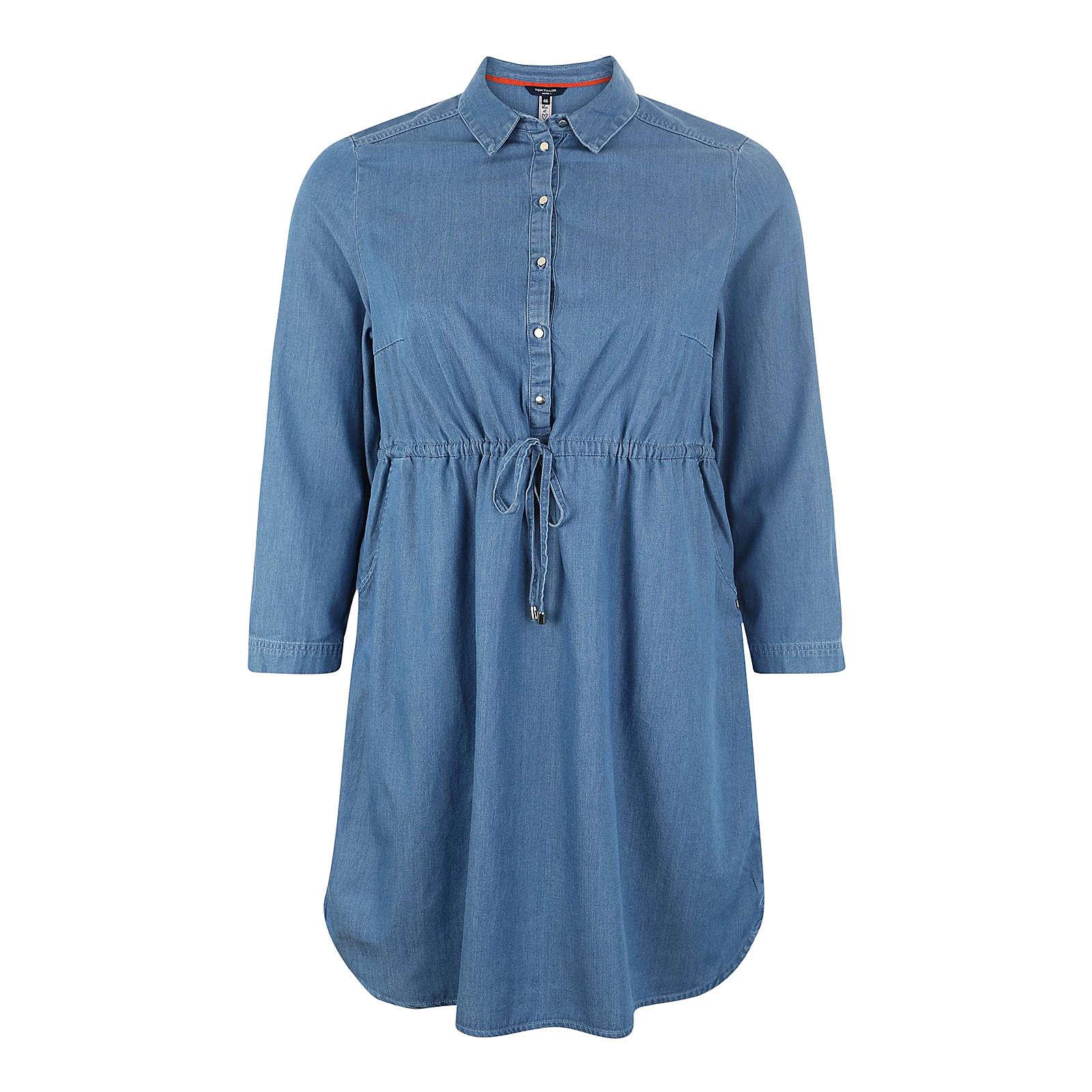 Tom Tailor Women + Blusenkleid Blusenkleider blue denim Damen Gr. 46